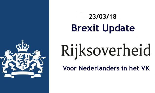 Brexit update 23-03-2018