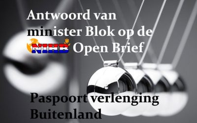 Antwoord minister Blok op Open Brief omtrent de paspoort problematiek