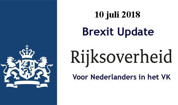 Brexit Update voor Nederlanders in het VK 10 juli 2018