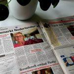 Persbericht in de Telegraaf 'Ik ben geen Nederlander meer'